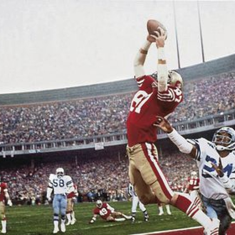 "Joe Montana & Dwight Clark "" 82 Catch"" Helmet"