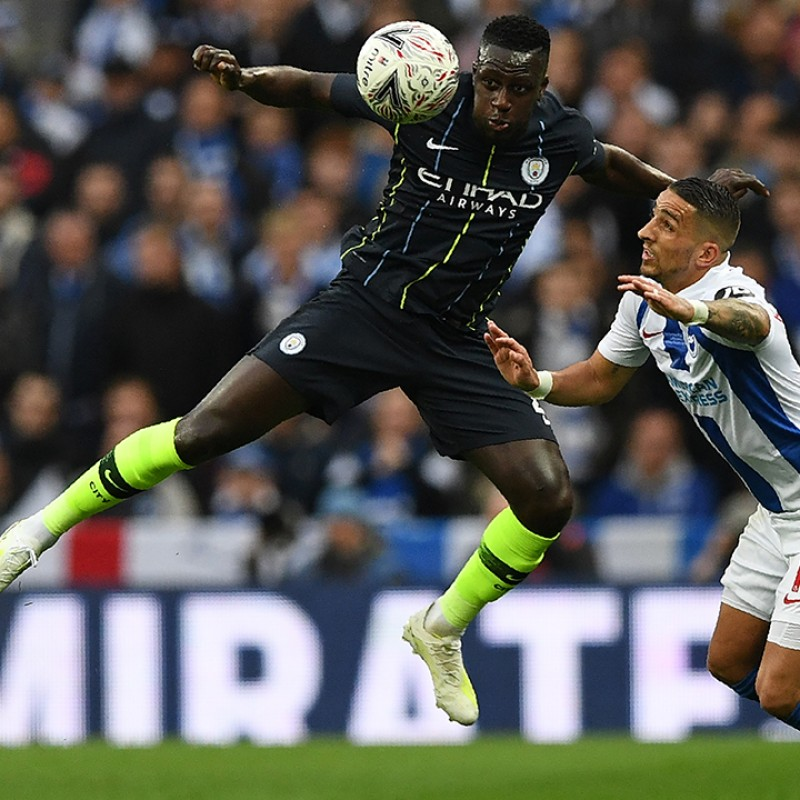 Mendy's Manchester City Match Navy/Volt Shorts, Premier League 2018/19