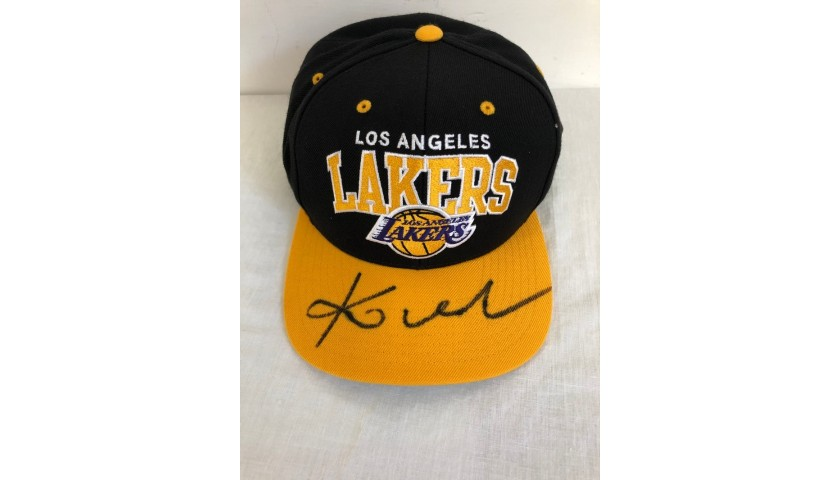 Official Los Angeles Lakers Cap - Signed by Kobe Bryant