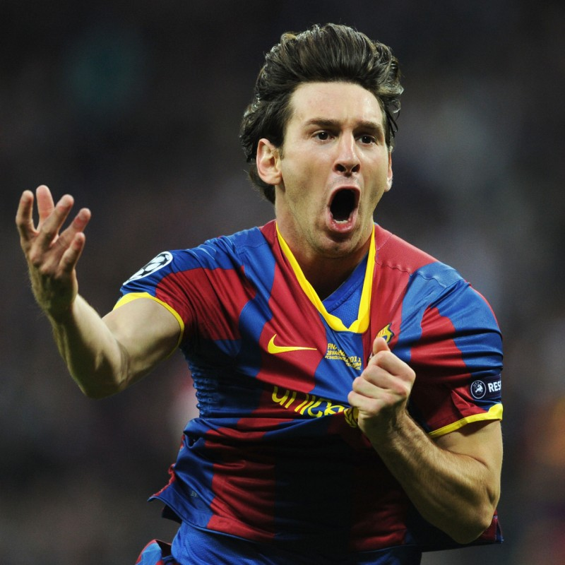 Messi's Barcellona Match-Issue Wembley Final 2011 Shirt