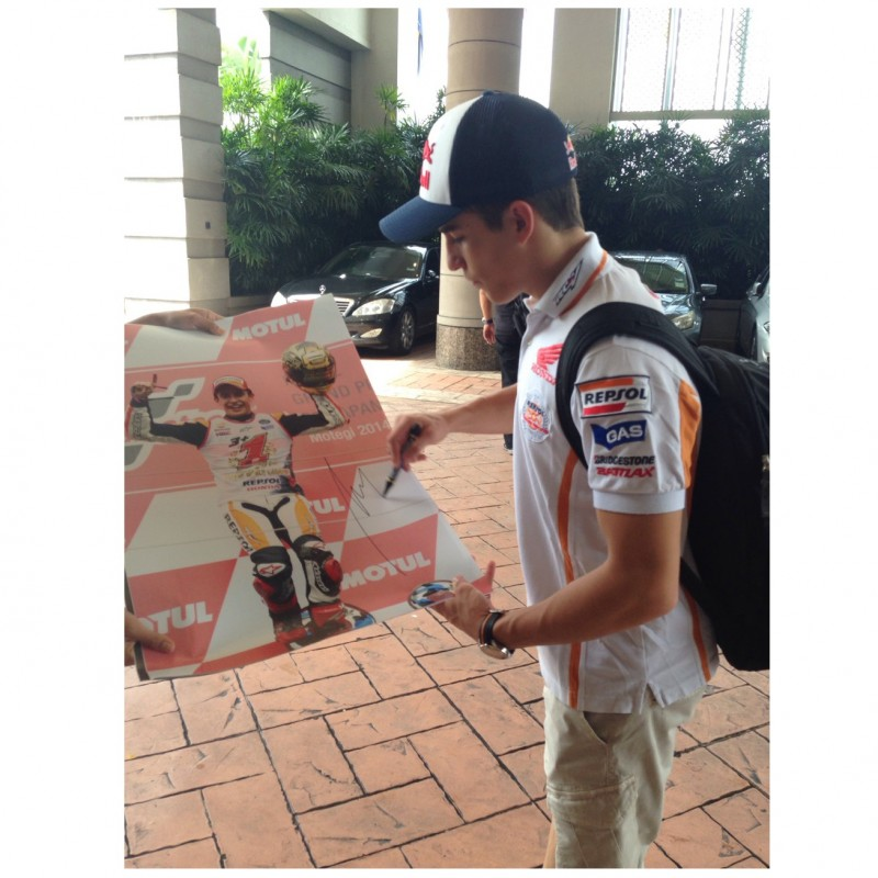 Picture Signed by Marc Marquez