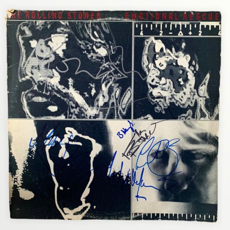The Rolling Stones Signed Emotional Rescue Vinyl LP