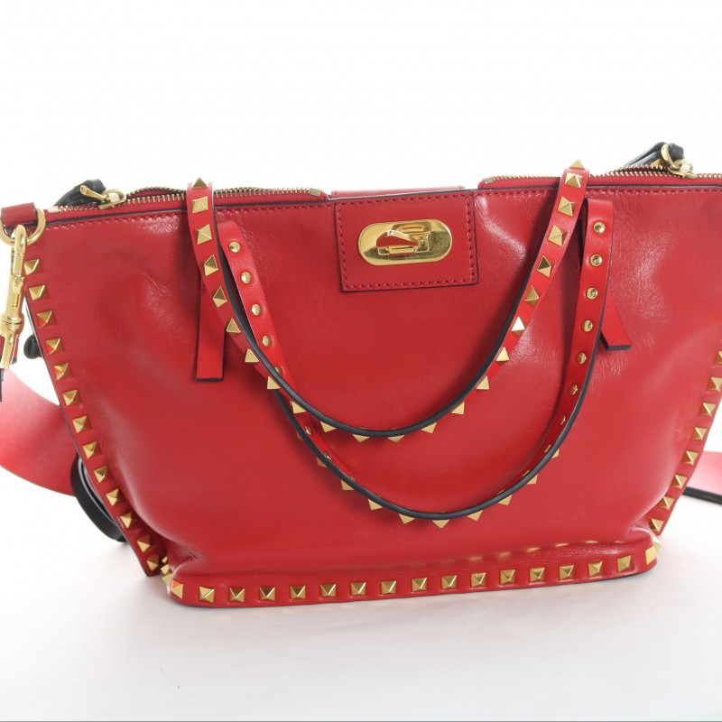 Red Leather Bag by Valentino