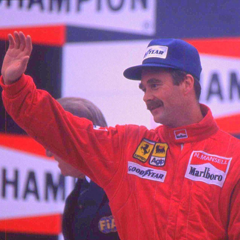 Nigel Mansell Signed Photograph