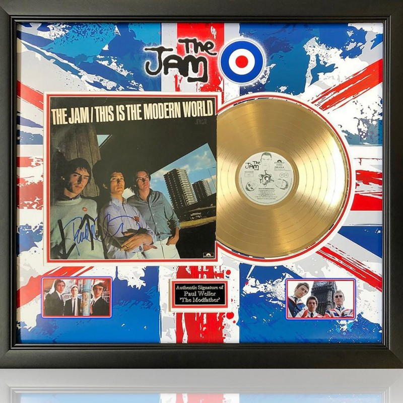 The Jam - This is the Modern World Gold Disc Presentation Hand Signed by Paul Weller