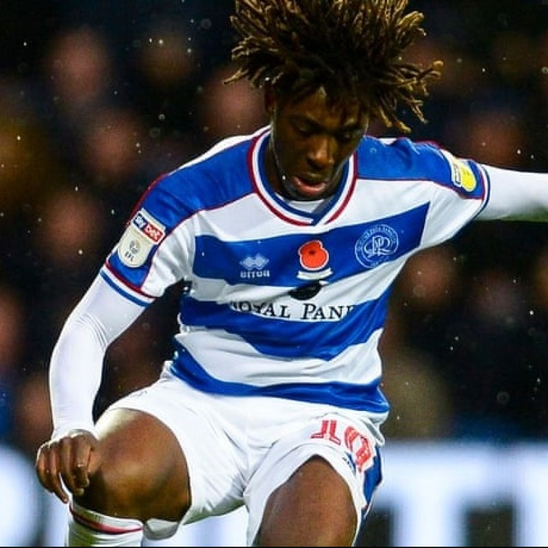 Eze's Queens Park Rangers Match-Issued Signed Poppy Shirt