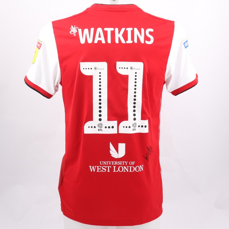 Watkins' Brentford Worn and Signed Poppy Shirt