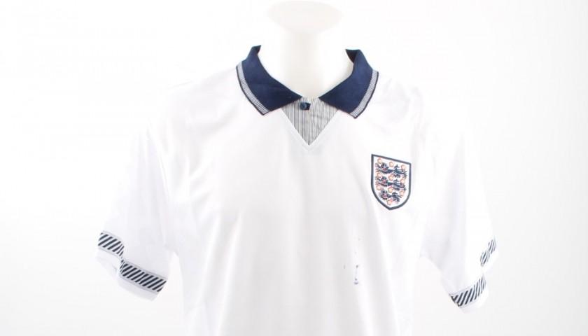 Official Replica England 1990 Shirt Signed by Paul Gascoigne