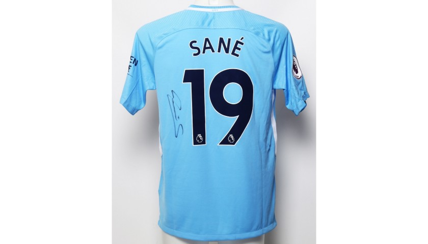 lowest price 9dec8 6ed3b Manchester City FC Shirt Signed by Leroy Sane from 2018 - CharityStars