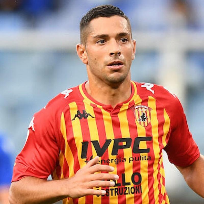 Caprari's Benevento Signed Match Shirt, 2020/21
