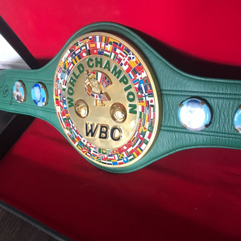 WBC Belt Signed by the Boxer Floyd Mayweather