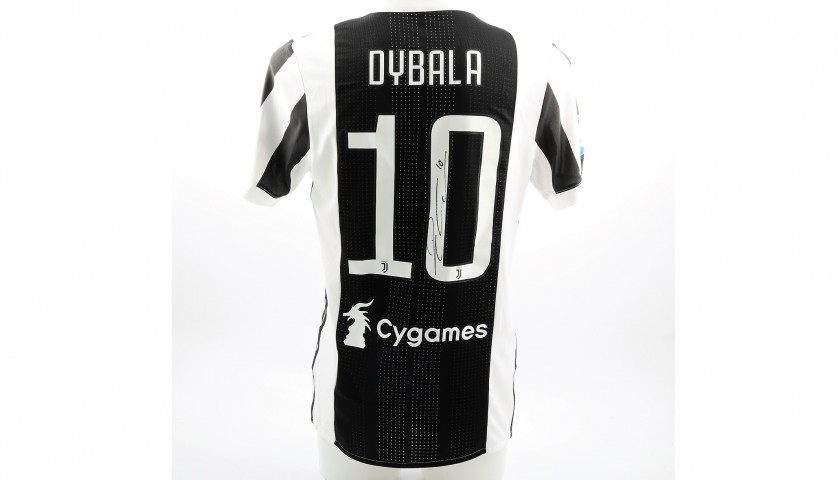 factory price 4105f 8233e Dybala's Match-Issued/Signed Juventus Shirt – 2018 TIM Cup Final -  CharityStars