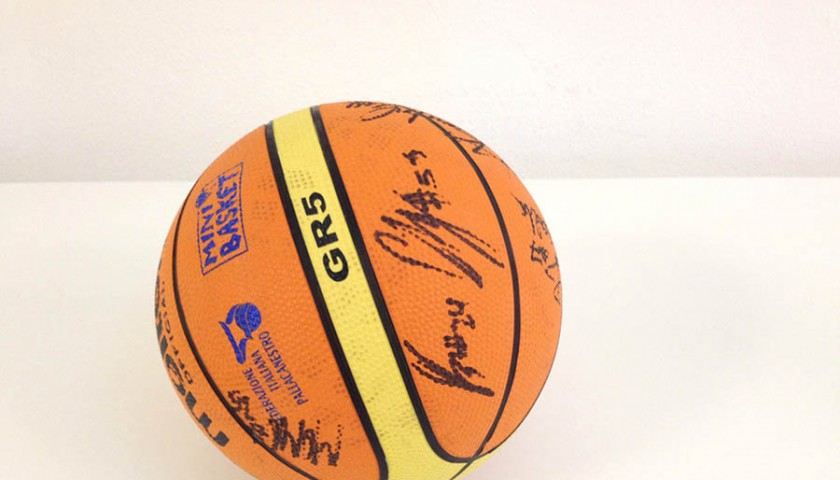 Olimpia Milano basketball signed by the team