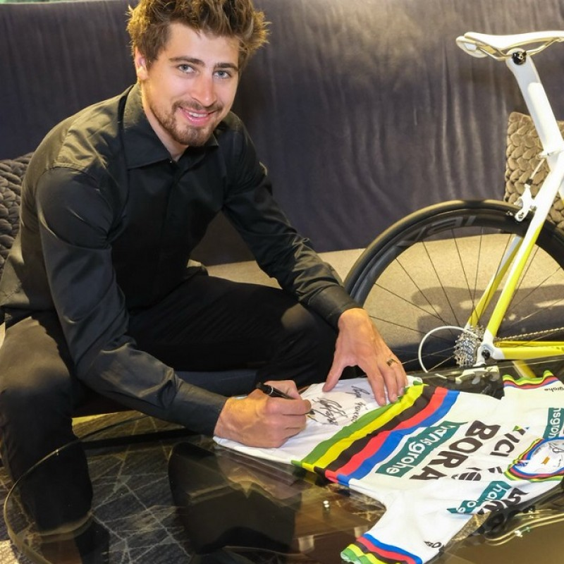 Peter Sagan's Signed Cycling Jersey Donated to Pope Francis