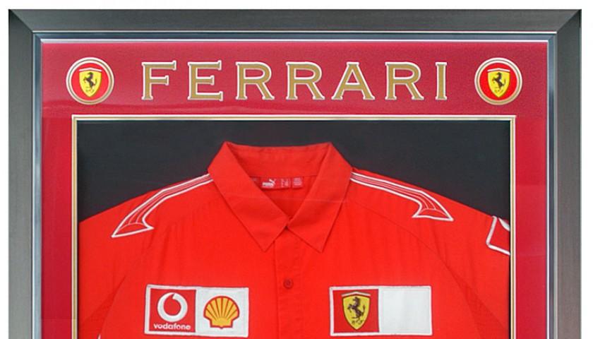 Ferrari Shirt Signed by Schumacher & Other Champions