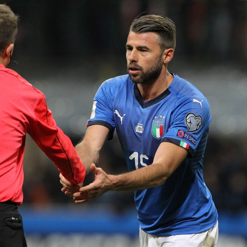 Barzagli's Match Shirt, Italy-Sweden 2017