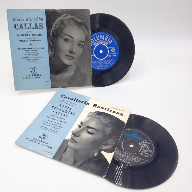 Original 1950s 45 rpm Records by Maria Meneghini Callas