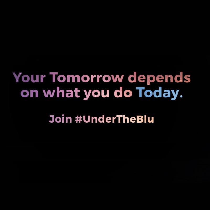 #UnderTheBlu