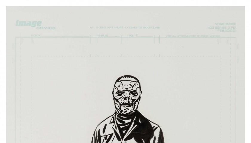 Original Slipknot portraits by Walking Dead comic artist Charlie Adlard