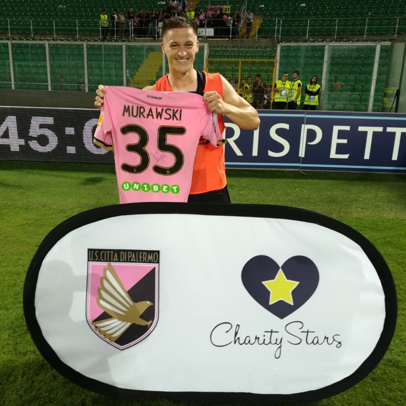 Murawski's Worn and Signed Shirt, Palermo-Crotone 2018
