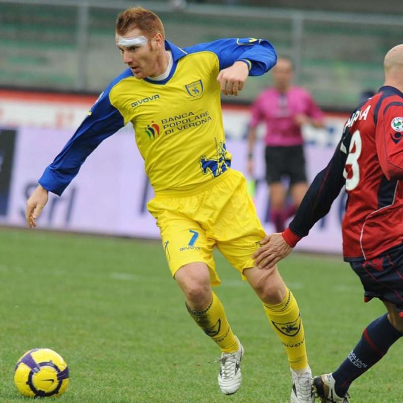 Marcolini's UNWASHED Match-Worn Chievo Shirt, Serie A 2009/10