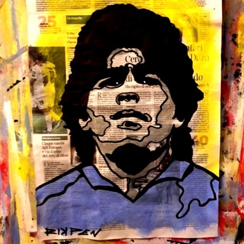 """Maradona"" Original Board by Riccardo Penati"
