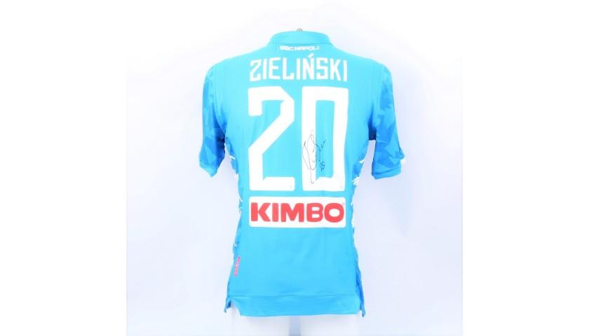 Zielinski's Napoli Worn and Signed Shirt, 2018/19