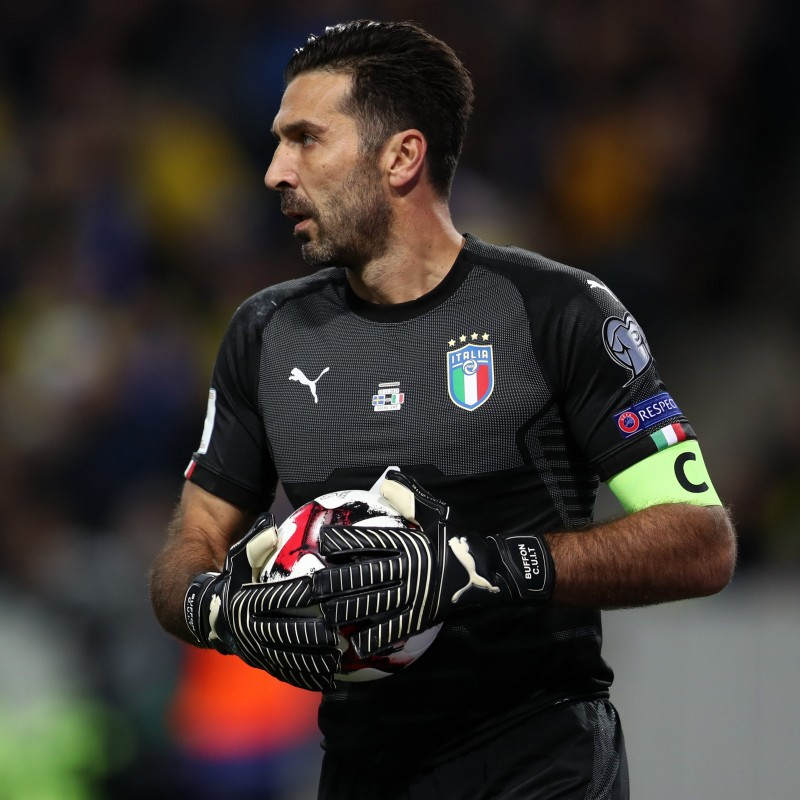 Buffon's Match-Issued Shirt, Italy-Sweden 2018