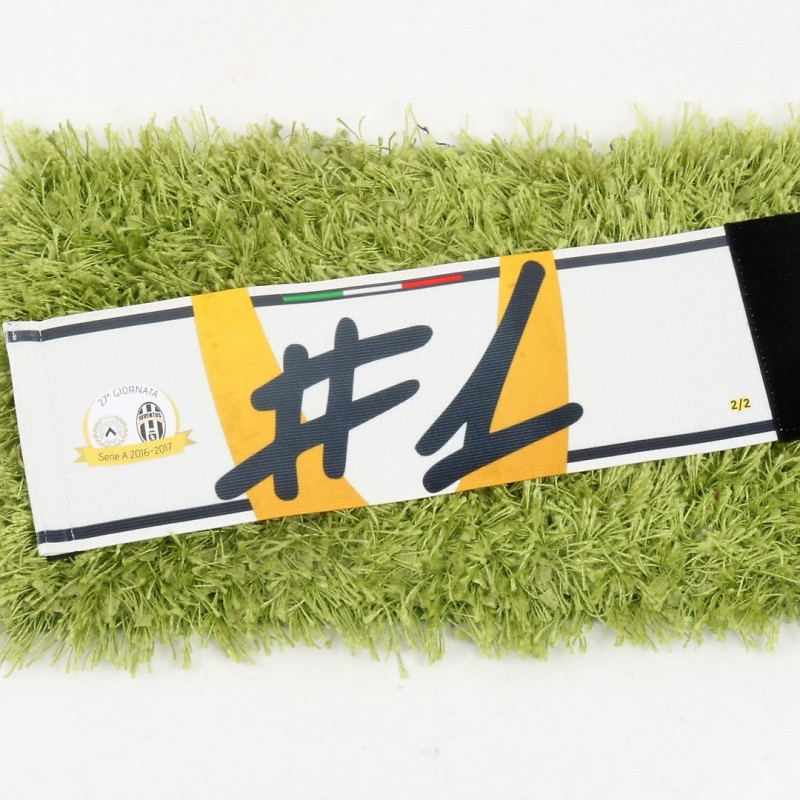 Buffon's Captain Armband, Issued Udinese-Juventus 2016/17