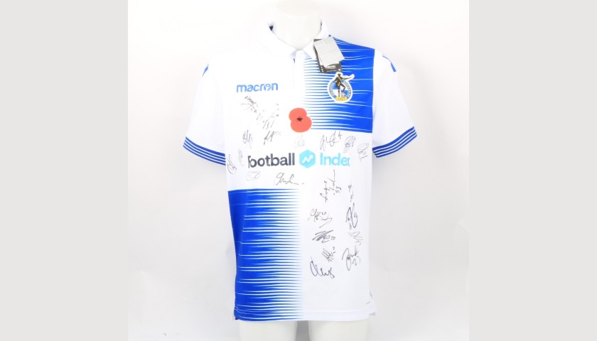 Bristol Rovers Official Poppy Shirt Signed by the Team