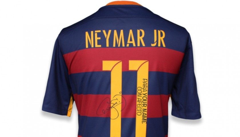 FC Barcelona Shirt with Personal Dedication from Neymar