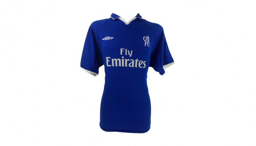 Zola's Official Chelsea Signed Shirt, 2001 Season