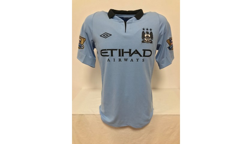 Aguero's Official Manchester City Signed Shirt, 2012/2013