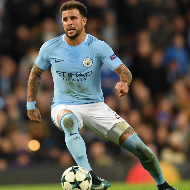 Walker's Manchester City Match Shirt, UCL 2018/19