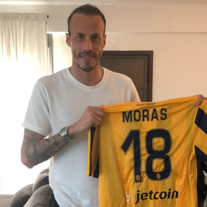 Moras' Hellas Verona Worn and Signed Shirt, 2015/16