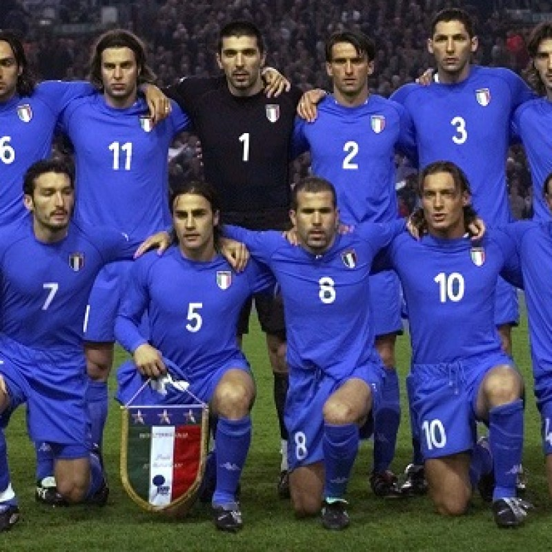 Panucci's Italy Match Shirt, World Cup 2002