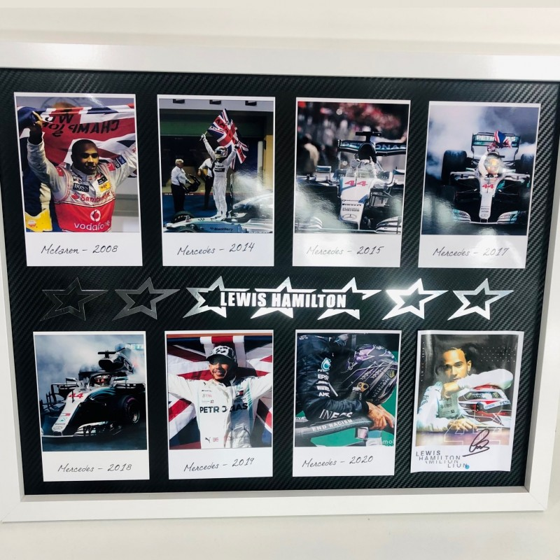 Lewis Hamilton Signed Pictures Frame