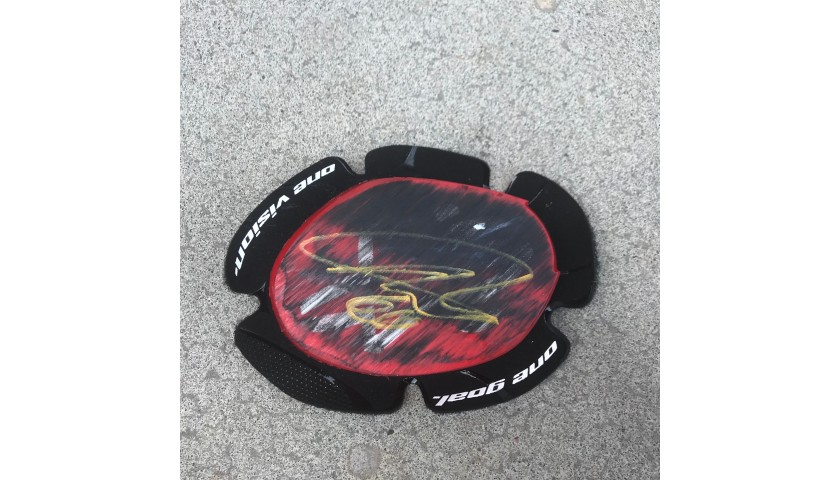 Knee Slider Worn and Signed by Michael Van Der Mark at Portimao
