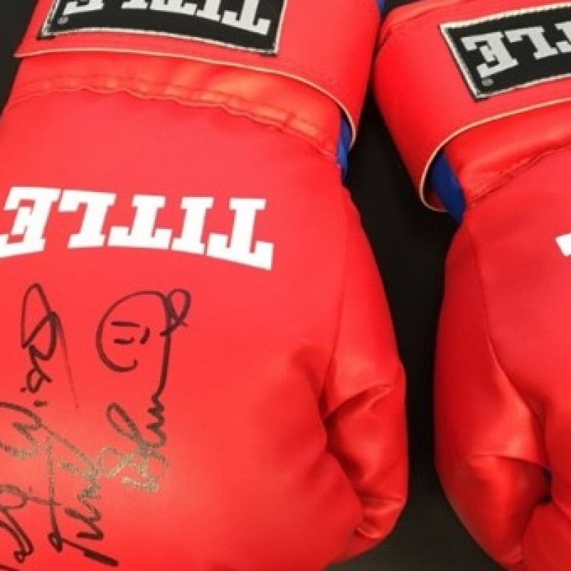 Authentic Signed Photo Of Frank Bruno, Along With A Signed Pair Of Gloves
