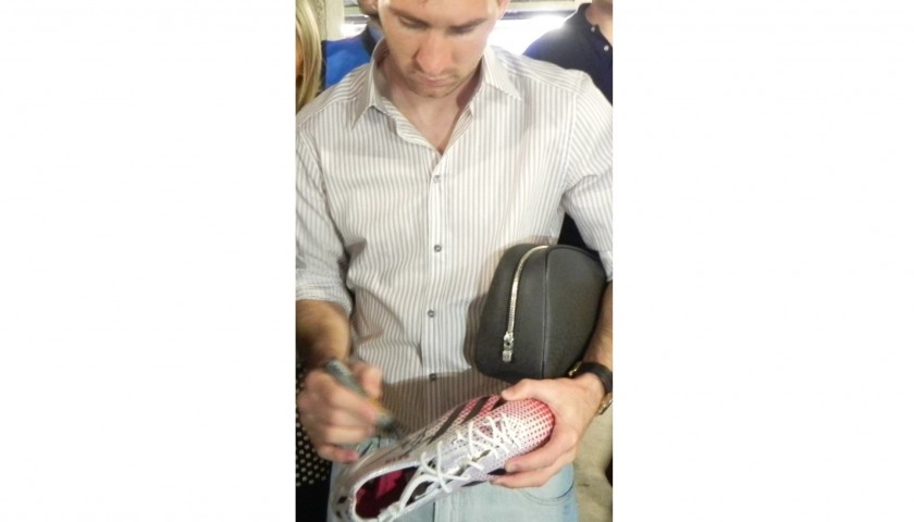 Limited Edition Leo Messi 370 Cleats, Signed