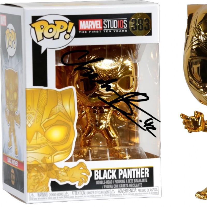 Chadwick Boseman Black Panther Funko Pop with Digital Signature