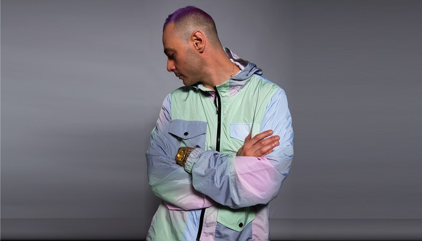 Fabri Fibra worn jacket