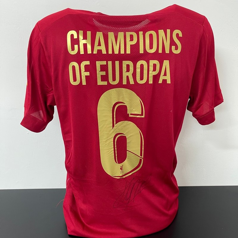 Liverpool's Official Celebratory Shirt, 2019/20 - Signed by Klopp