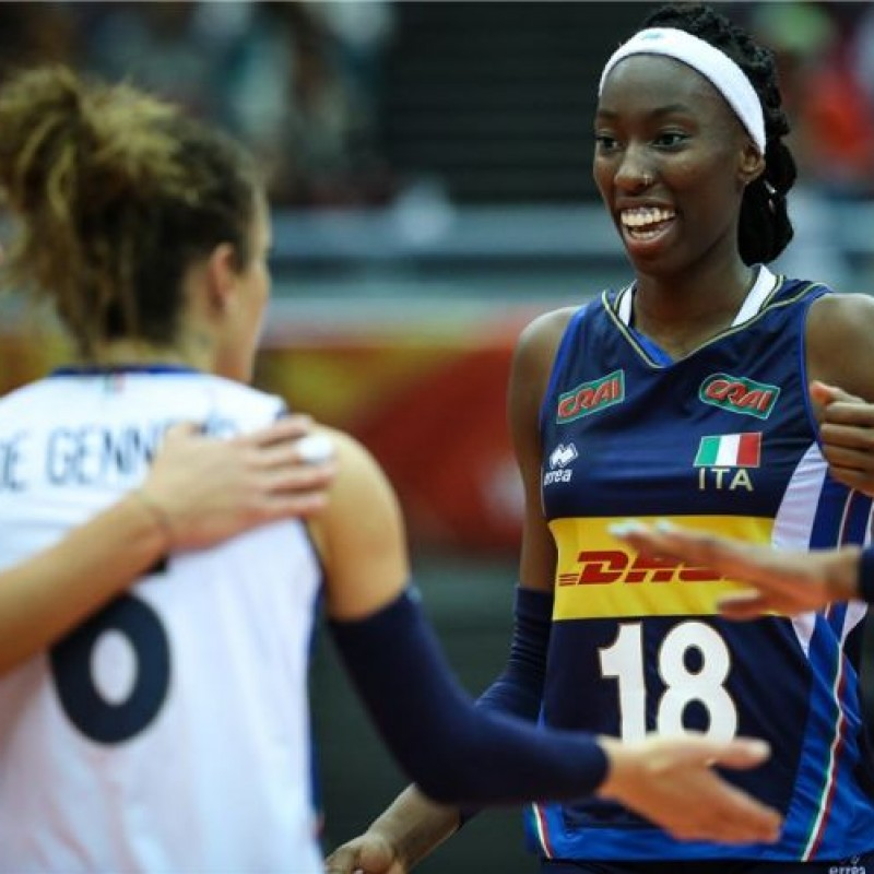 Egonu's Italvolley Worn and Signed Jersey