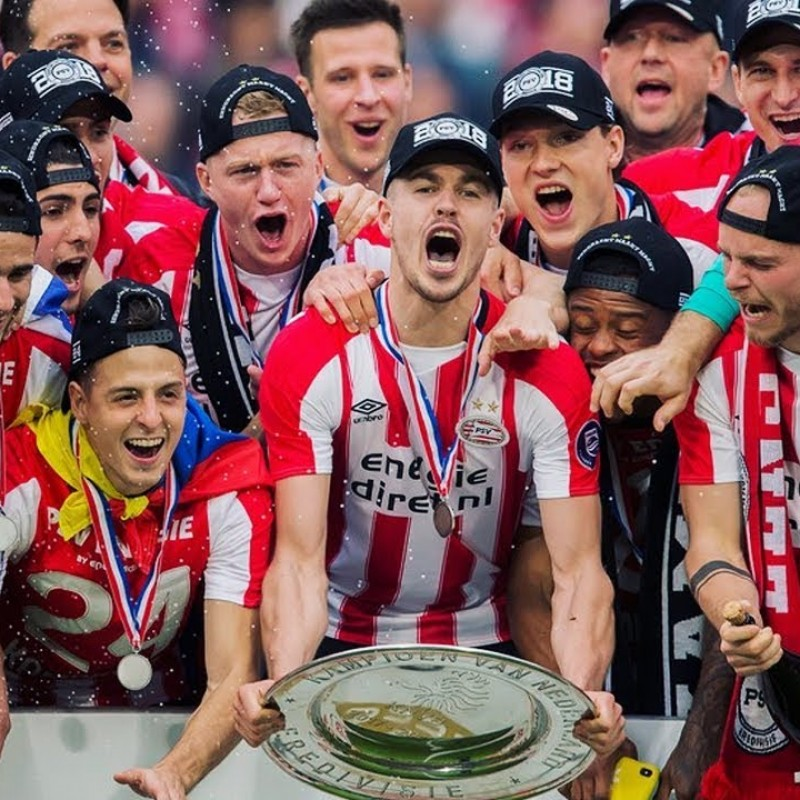 PSV Champions 2017/18 Shirt - Signed by the Players