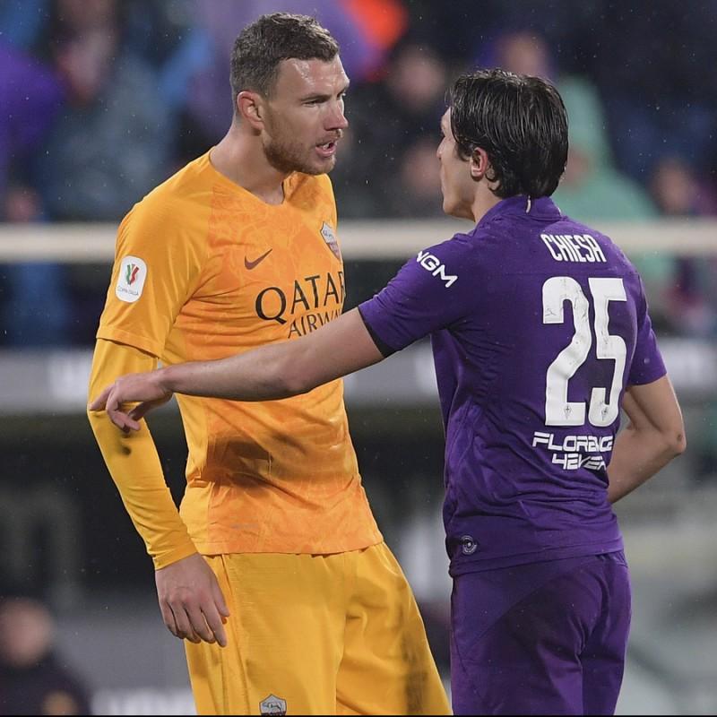Dzeko's Official Roma Signed Shirt, 2018/19