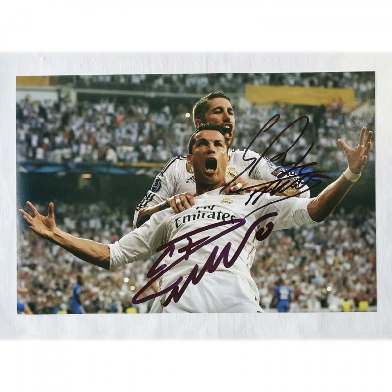 Photograph Signed by Cristiano Ronaldo and Sergio Ramos