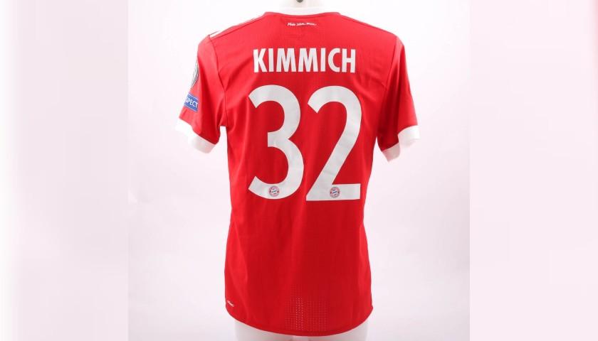 Kimmich's Bayern Munich Worn Shirt, UCL 2017/18