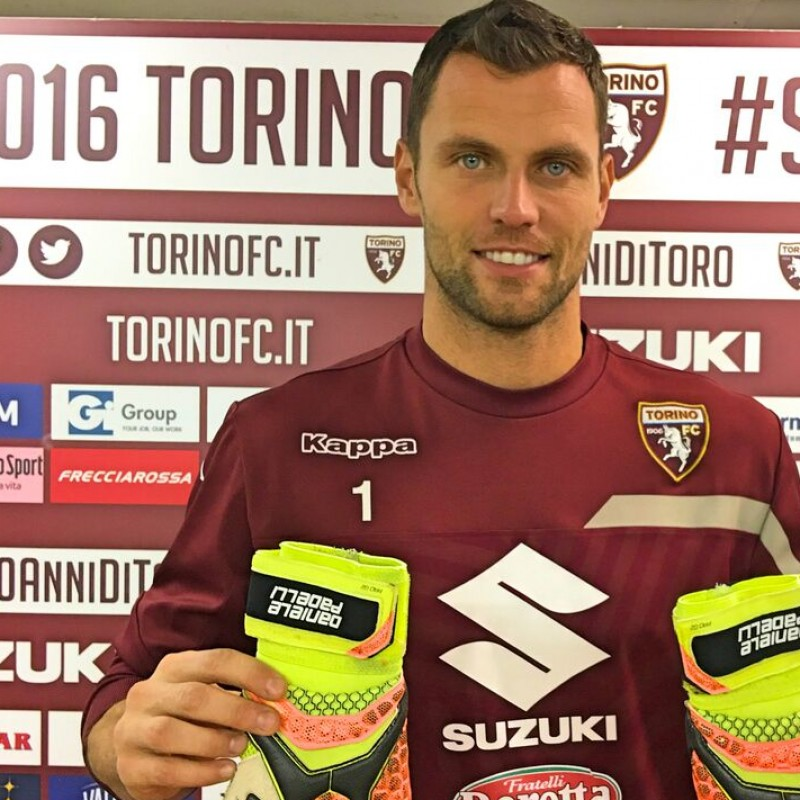 Customized Padelli Match Gloves, Serie A 2016/17 - Signed