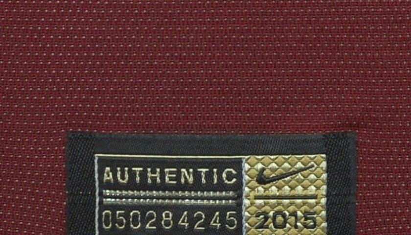 Authenticated Florenzi shirt worn during Frosinone 0-2 Roma
